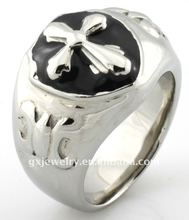 Flame Ccoss skull casual womens rings