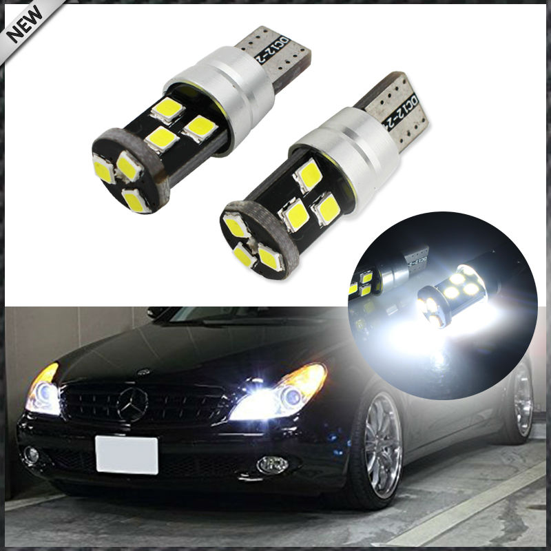 9-SMD-3030 2825 W5W T10 Canbus Error Free LED Replacement Bulbs For Parking Lights, Xenon White