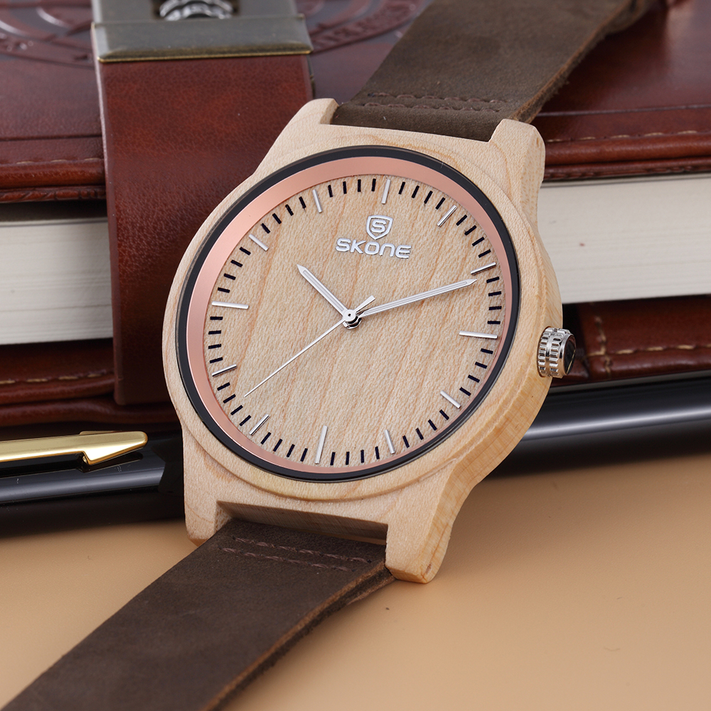 2017 latest hand made wood watch wood grain watches