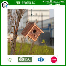 hot selling FSC handmade wooden bird nest/ cage with bark