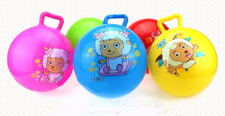 25cm 30cm 45cm cheap children playing Jumping hopper bouncy ball With handles for riding