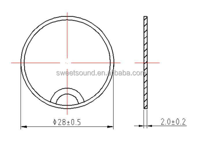 28mm 1 mhz piezoelectric crystal factory   piezo ultrasonic