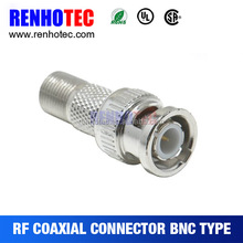 BNC male conector to terminal screw terminal BNC female connector