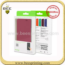 flip cover case for htc desire 700 M8/for htc one x case packaging box