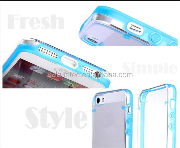 Hybrid Ultra Thin Transparent Crystal Clear Hard TPU Case Cover for iPhone 5 5C 5S