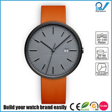 PVD grey stainless steel case polished indexing scratch-resistant waterproof 5ATM sapphire crystal rubber wrist watch