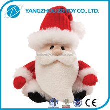 new style soft polyester stuffed and plush toy santa claus