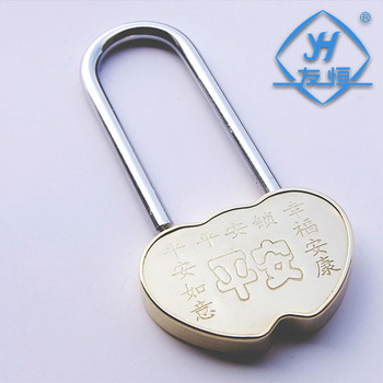 YH1048 wholesale brass heart-shaped love padlock without keys