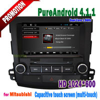 Android 8 inch 2 din mitsubishi outlander car dvd with WIFI BT Video Audio TV and complete functions