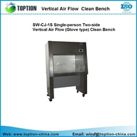 Laminar Air Flow Clean Bench glove type clean bech Single-person Two-side Vertical Air Flow (Glove type) Clean Bench