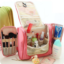 Travel wash bag large capacity korean toiletry package bag, men and women portable hook washing hanging toiletry cosmetic bag
