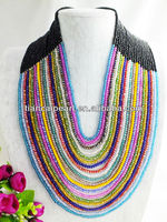 Free ship!!! W-160 2014 New Design Multicolor Crystal Beads Jewelry Necklace For Wedding