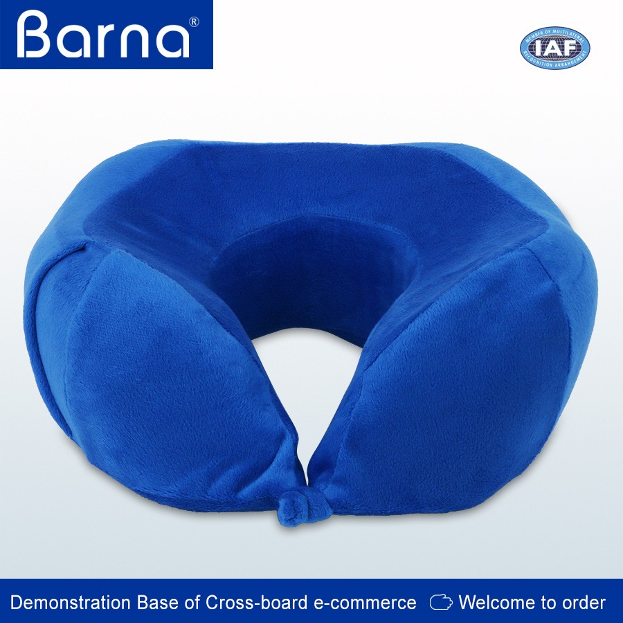 orthopedic U-shaped easy carry auto car headrest foam neck pillow cushion for passenger driver