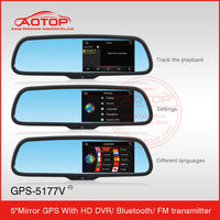 Auto Dimming 5 Inch Capacitive Touchscreen Bluetooth Rearview Mirror 5 Inch Car Dvr With Gps Navigation Made In China