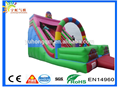 0.55MM PVC tarpaulin rainbow style clown inflatable dry jumping slide for sale