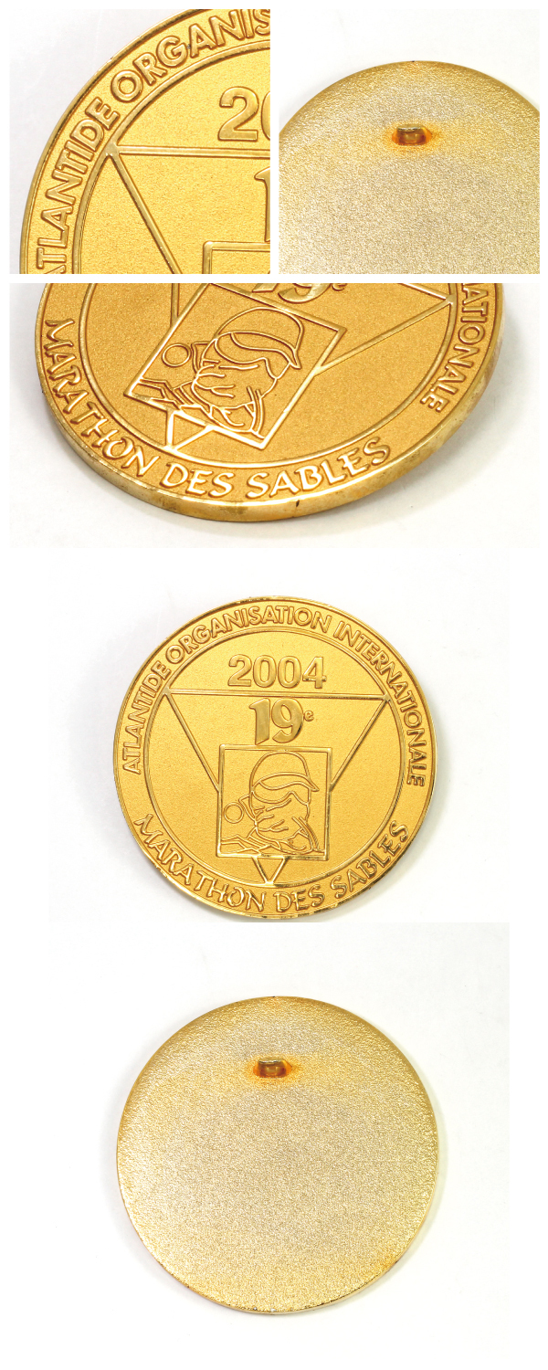 Gold Plated Challenge Coin with Custom Design