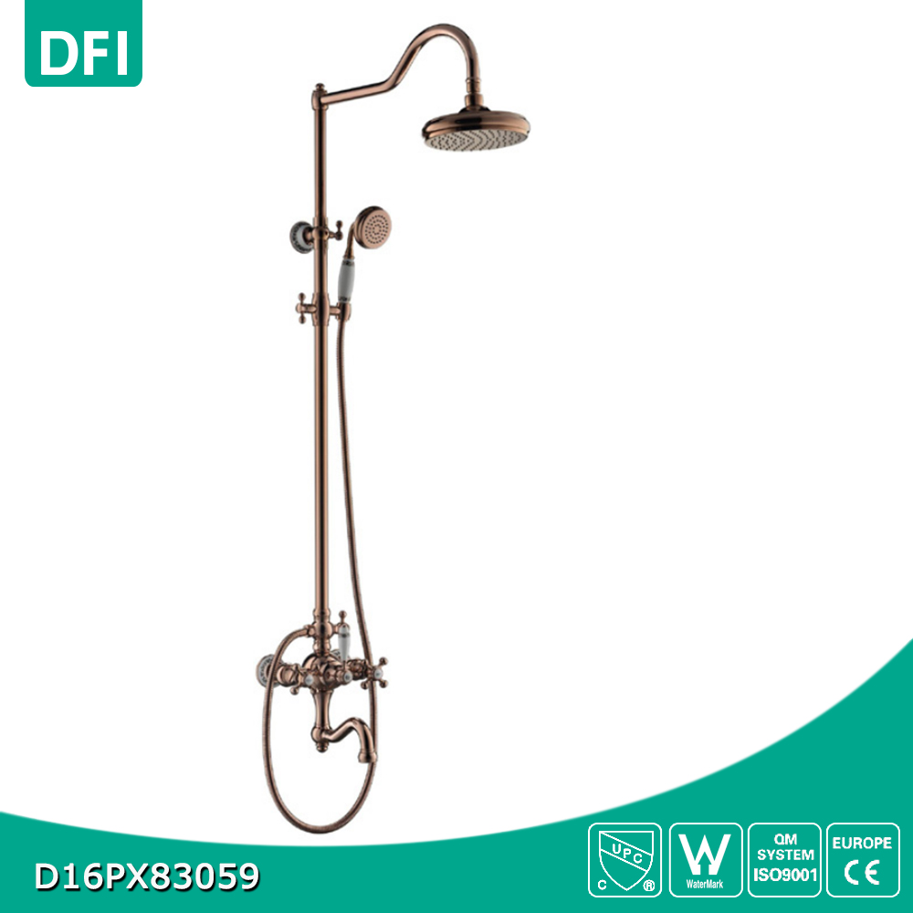 Bathroom Wall Mounted Rainfall Shower Head Set Plumbing System