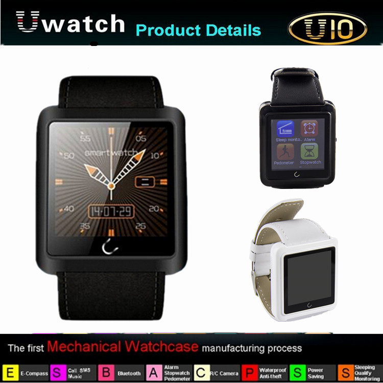 New! 1.54 Inch <strong>U10</strong> Anti-lost Bluetooth smart Watch Waterproof Smart Android Watch For Andriod Phone Samsung HTC Smartphones