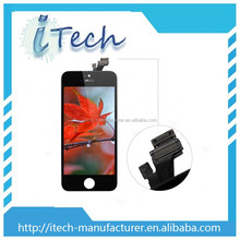 Wholesale front assembly lcd display touch screen digitizer for iPhone 5 Black White color