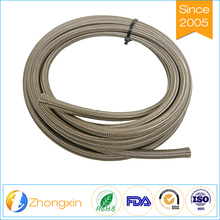 Chemically inert temperature resistant non-aging stainless steel braided teflon ptfe lined hose
