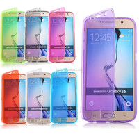 Transparent Flip Soft TPU Gel Silicone Case Cover For Samsung Galaxy S6