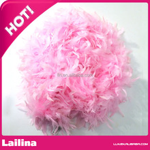 Pink Turkey boa for Little Girl / Turkey Candle Feather Boa