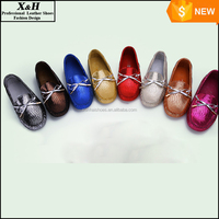 2015 Hot Sell New Fashion Glitter Leather Women Driving Moccasin Loafer Shoes Women's Casual Bowtie Style Driving Shoes