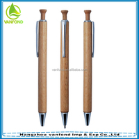 Cheap promotional click wooden pen with metal kits