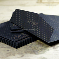 Matt Black Card Paper Envelope In