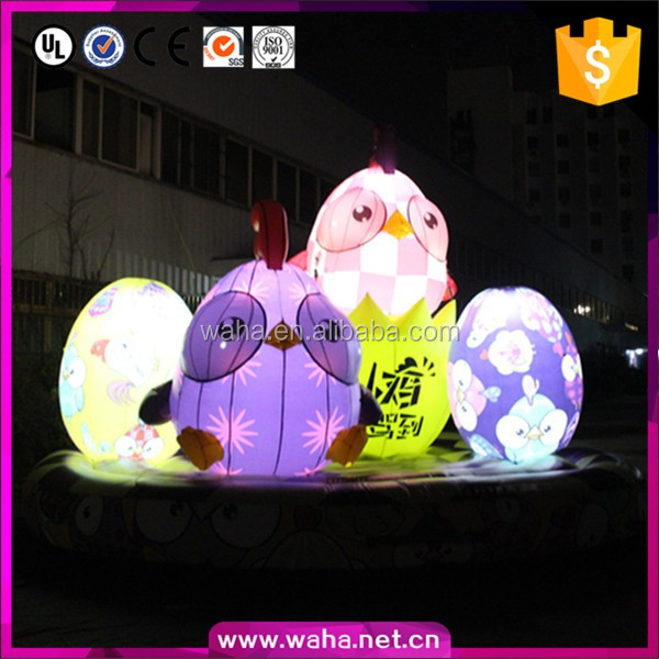 led lighting inflatable chicken egg for Chinese new year night decoration
