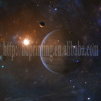 space planet & star at night led canvas modern decoration