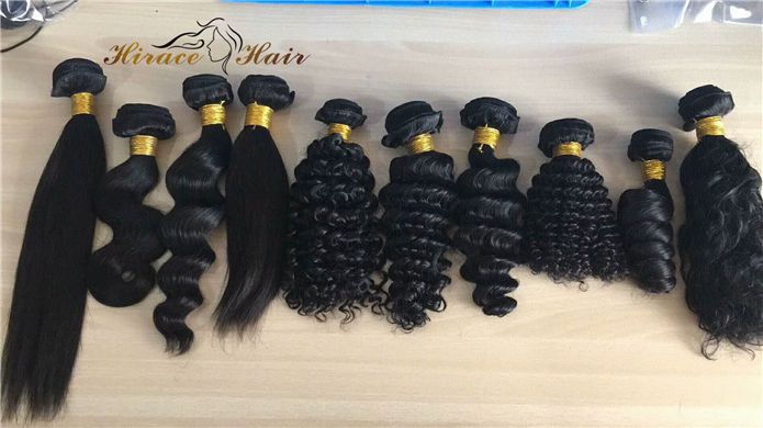 Malaysian hair Extension Virgin Cuticle Aligned hair Double Drawn Hair bundles