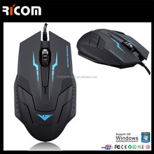 2017 China manufacturer optical 4D 6D usb wired gaming mouse--GM6104---Shenzhen Ricom