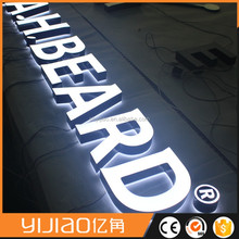 led sign letter for optics shop decor