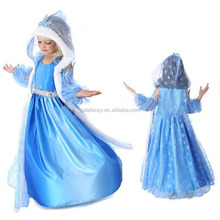 Hot saling let it go elsa princess frozen dress with girls for party QKC-1077