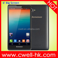 Unlocked MTK6582 quad core Lenovo A889 Android 4.2 6 inch big screen dual sim mobile phones