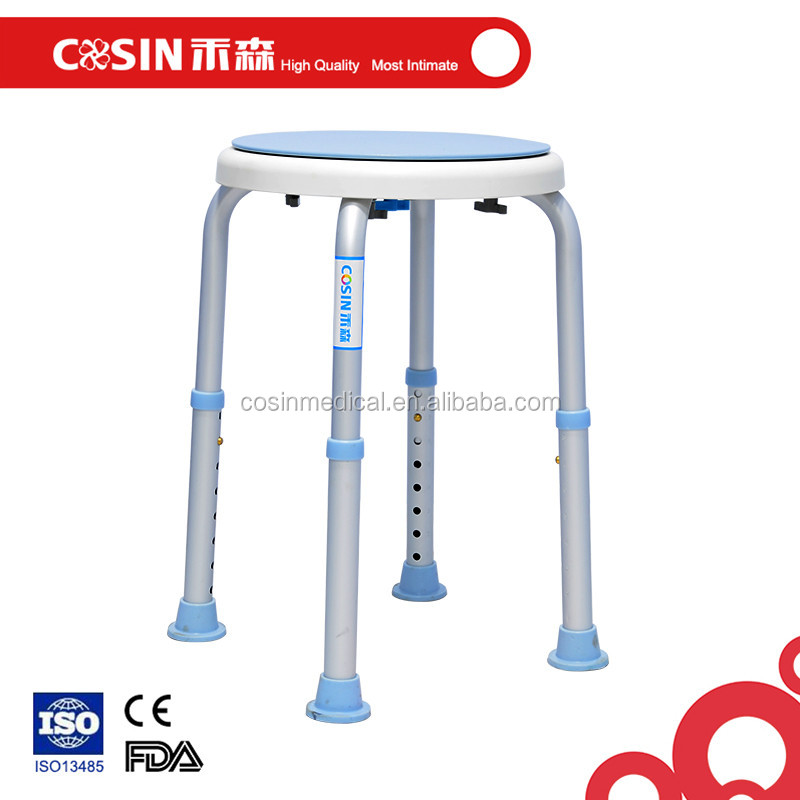 High Quality Adjustable Cheap Plastic Mobile Shower Commode Chair