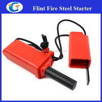 Fire Starter - Flint - Compass & Emergancy Whistle in Metal Case - Water Proof Storage - Survival is Easy Using Fire Starter
