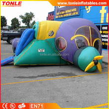 Commercial Inflatable Play Plane for sale, adult inflatable bouncer combo
