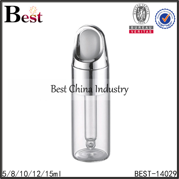 fashion design silver flower basket cap essential oil glass dropper bottle cosmetic use