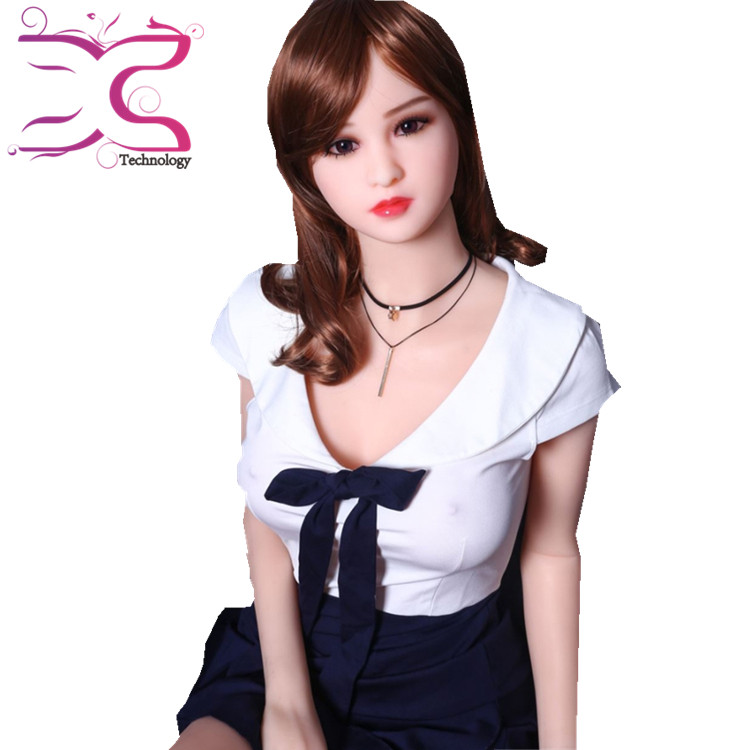High quality best price 3D sound and heating Real Sex Toy Love 165cm Silicone Sex Doll Flat Chest