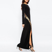 Sexy ladies maxi long dress elegant floor length bangkok evening dress