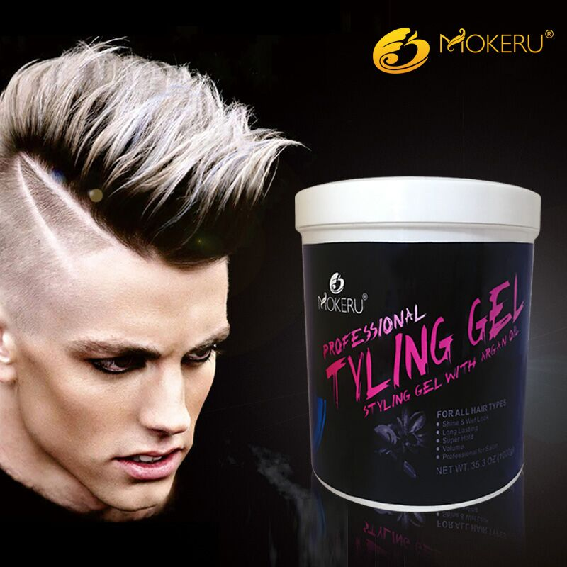 Natural hair styling gel for men