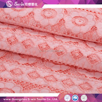 High quality fashion cotton crochet lace / stretch lace fabric