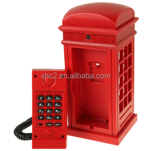 online shopping new products 2 in 1 LED Telephone Booth Home Booth Table Lamp Wire corded phone
