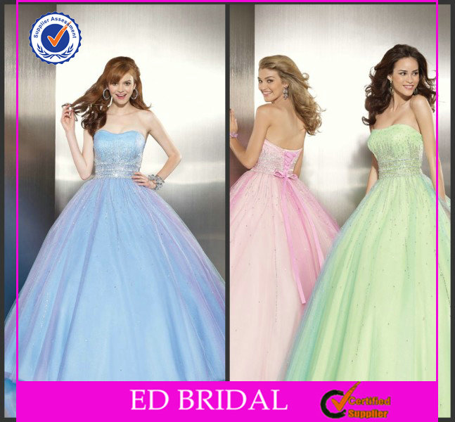 Ball Gown Cheap Rhinestone Prom Dresses For Sale