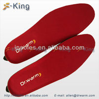 Rechargeable battery heated insoles warmer foot shoes