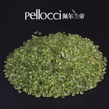 Wholesale price of rock crystal peridot crushed tumbled stone