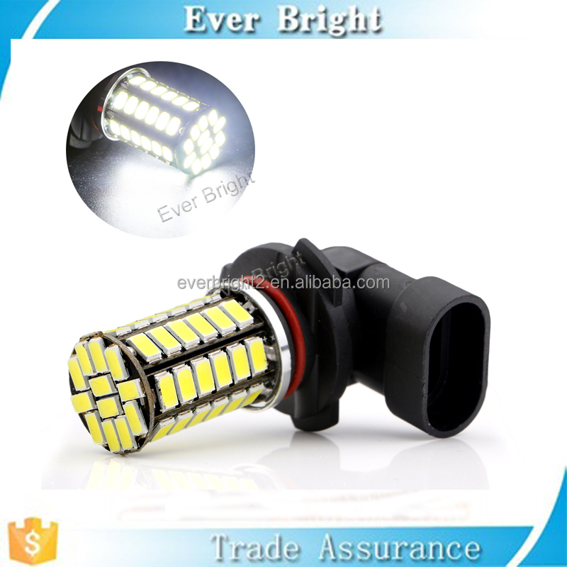 Global glaze new products 5630 54smd H4,H7,9005,9006,H11 car led fog light universal