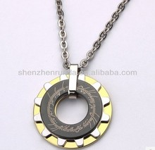 gold plated Men's tungsten pendant believe pendant necklace Lord of the Rings runner necklace